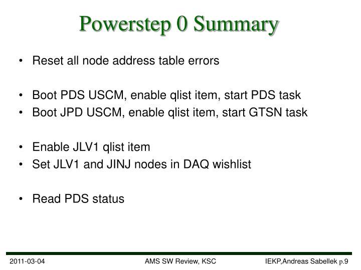 Powerstep 0 Summary