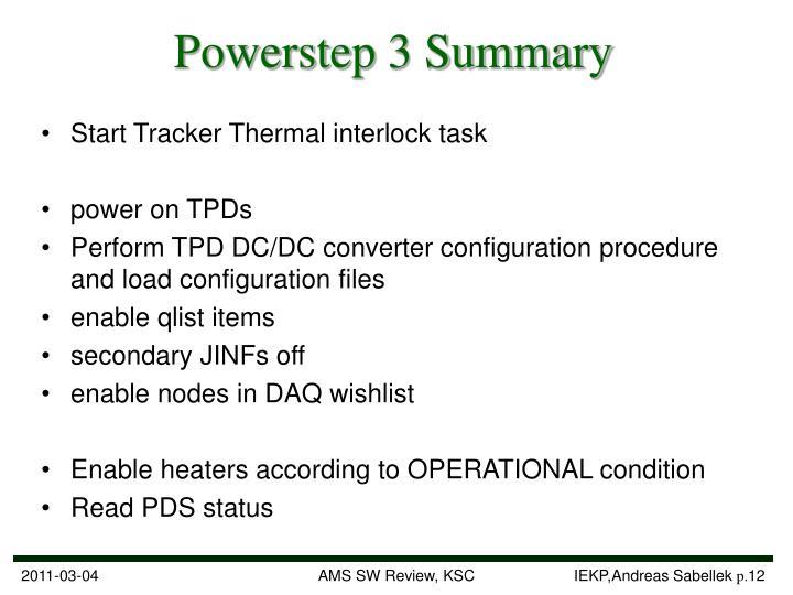 Powerstep 3 Summary