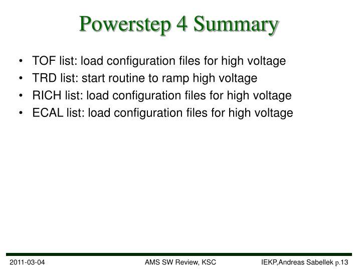 Powerstep 4 Summary
