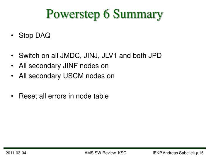 Powerstep 6 Summary