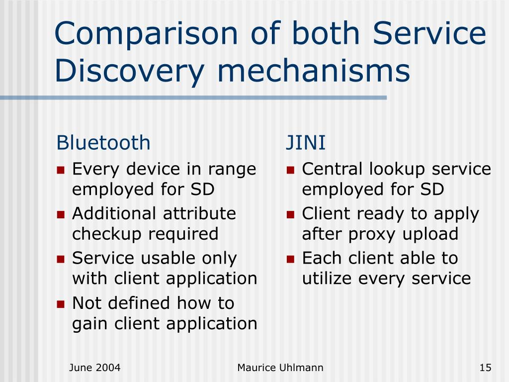PPT - Service Discovery in Bluetooth and JINI PowerPoint