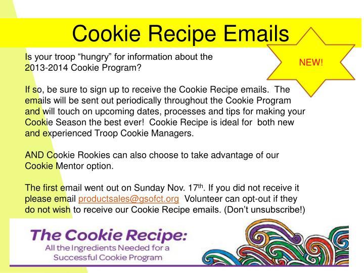 Cookie Recipe Emails