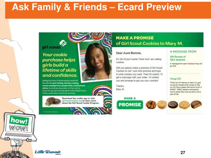 Ask Family & Friends – Ecard Preview
