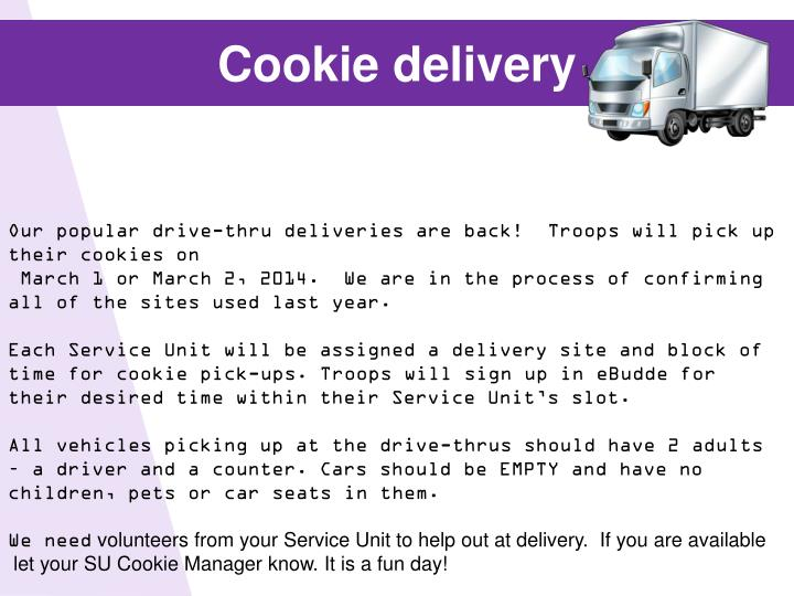 Cookie delivery