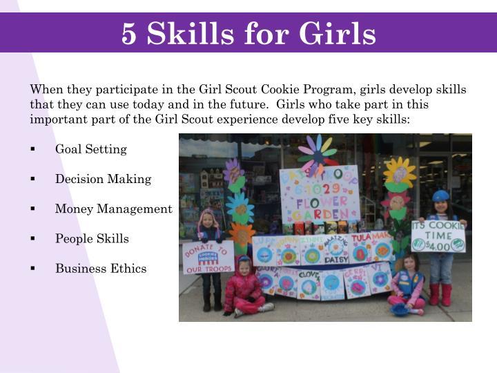 5 Skills for Girls