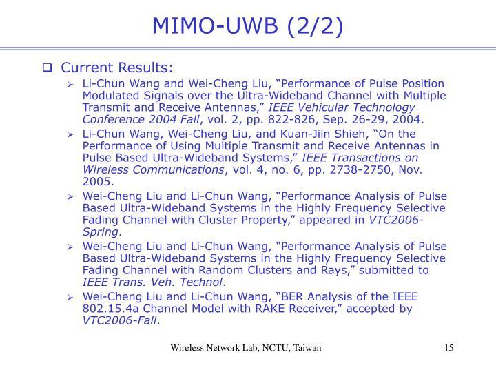 MIMO-UWB (2/2)