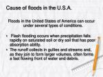 cause of floods in the u s a