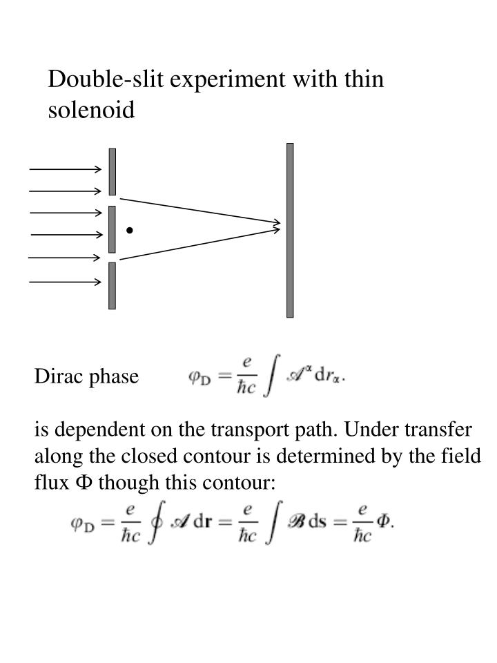 Double-slit experiment with thin solenoid