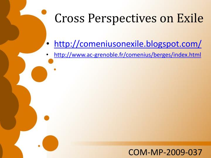 Cross Perspectives on Exile