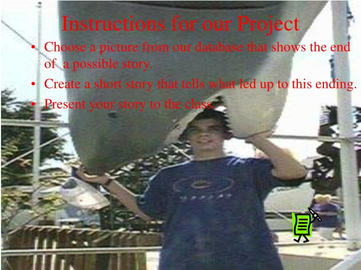 Instructions for our Project