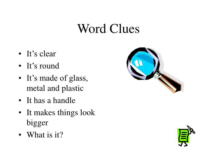 Word Clues