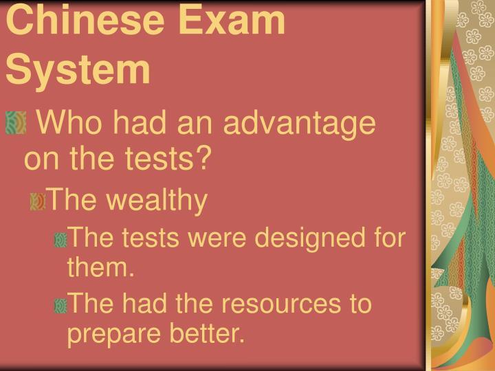 Chinese Exam System
