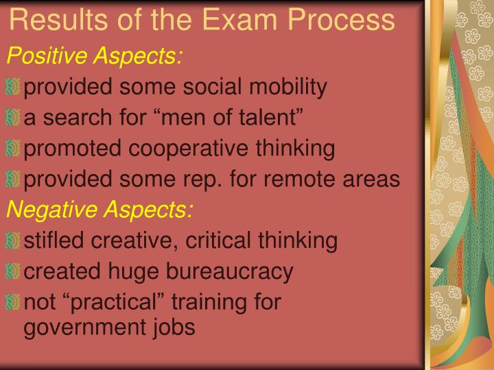 Results of the Exam Process