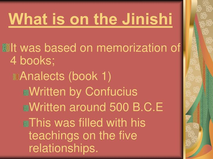 What is on the Jinishi
