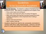 guidelines to be successful anywhere