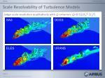 scale resolvability of turbulence models