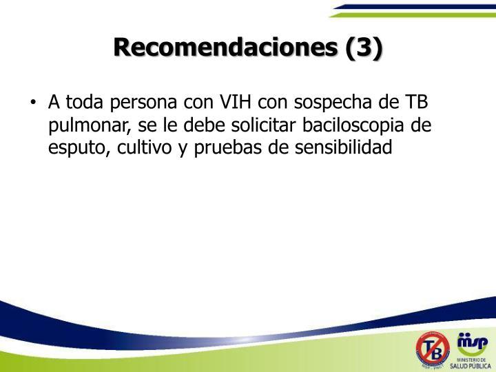 Recomendaciones (3)