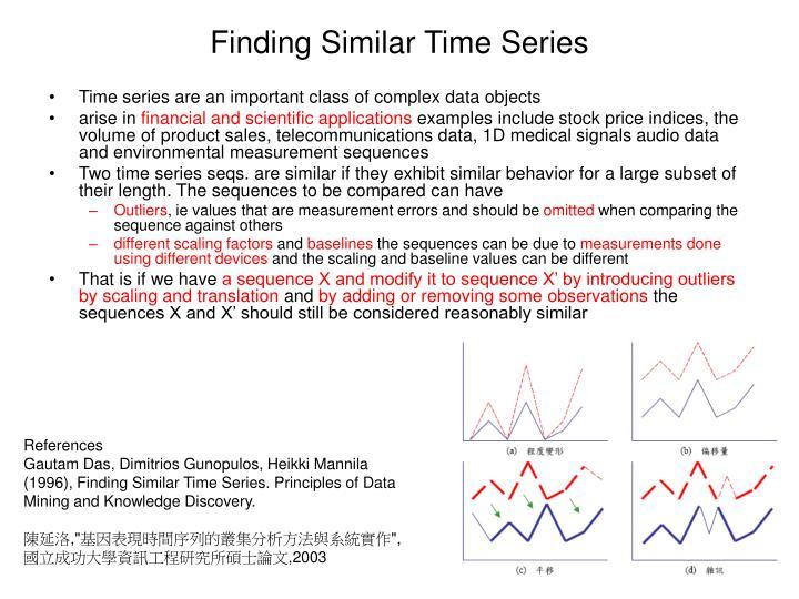 Finding Similar Time Series