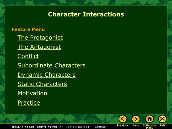 PPT Character Interactions PowerPoint Presentation ID