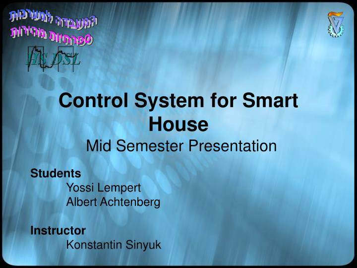 control system for smart house n.