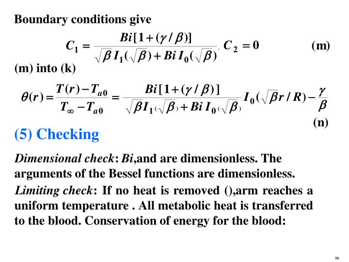 Boundary conditions give