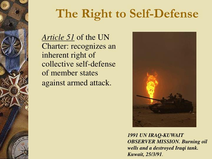 The Right to Self-Defense