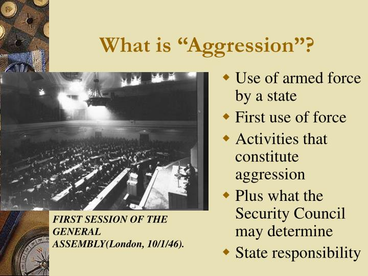 "What is ""Aggression""?"