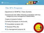 the ipa program