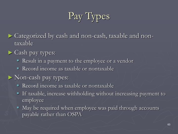 Pay Types
