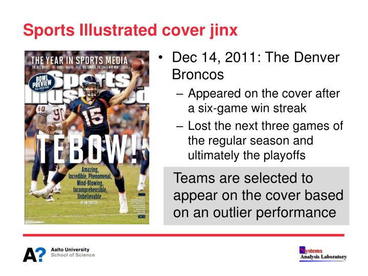 Sports Illustrated cover jinx