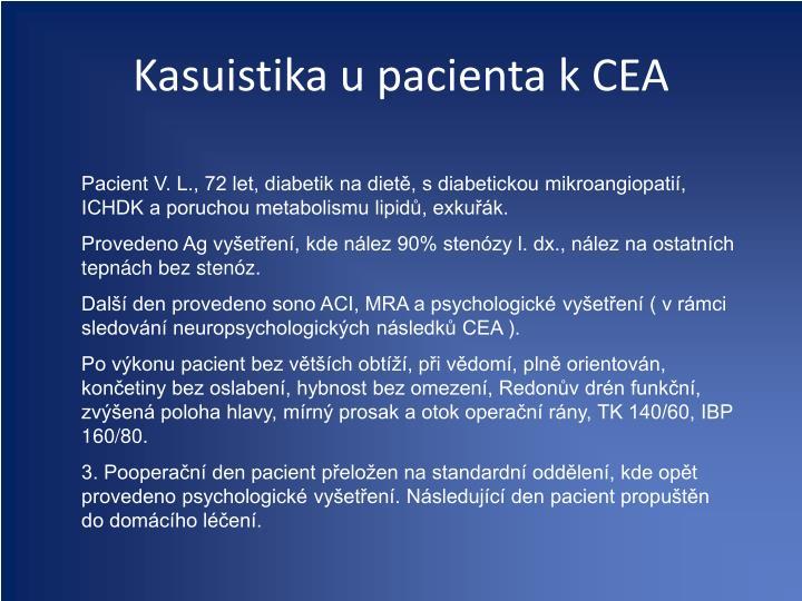 Kasuistika u pacienta k CEA