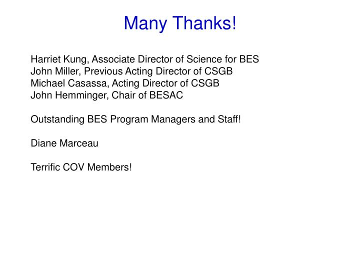 Harriet Kung, Associate Director of Science for BES