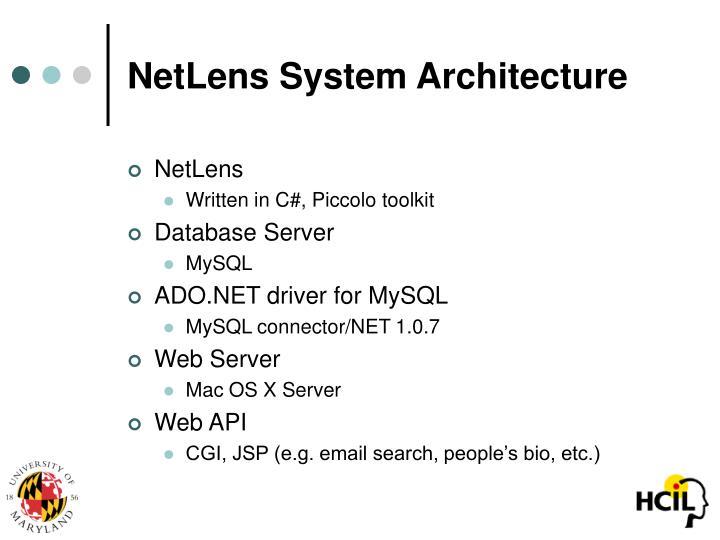 NetLens System Architecture
