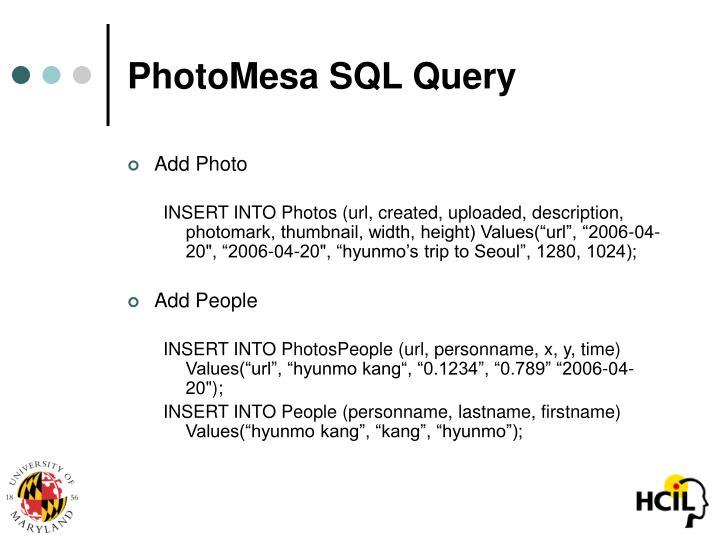 PhotoMesa SQL Query