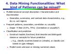 4 data mining functionalities what kind of pattersn can be mined