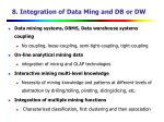 8 integration of data ming and db or dw