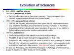 evolution of sciences