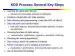 kdd process several key steps