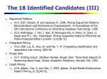 the 18 identified candidates iii
