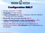 configuration malt1