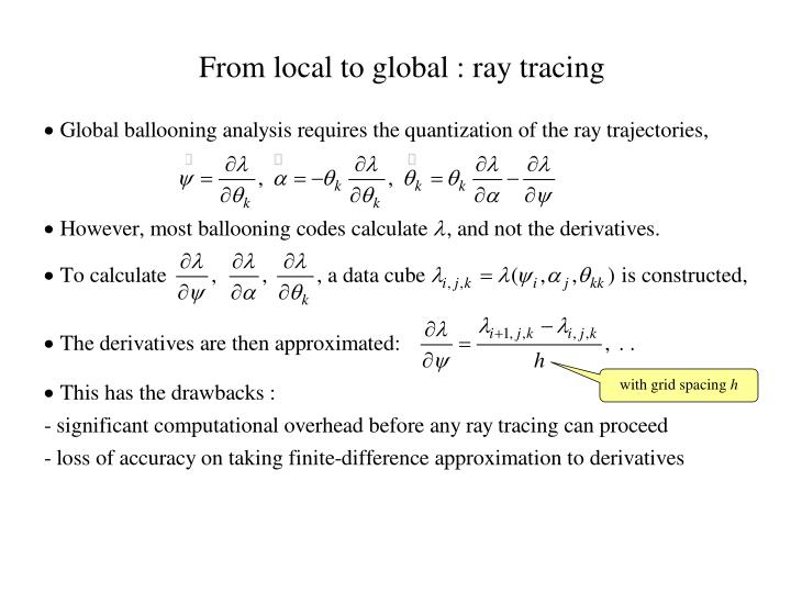 From local to global ray tracing