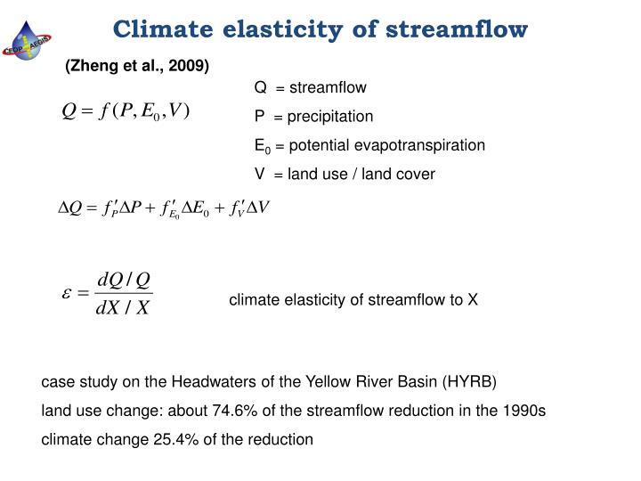 Climate elasticity of streamflow