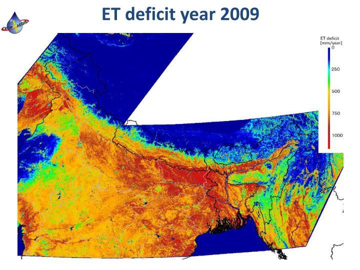 ET deficit year 2009