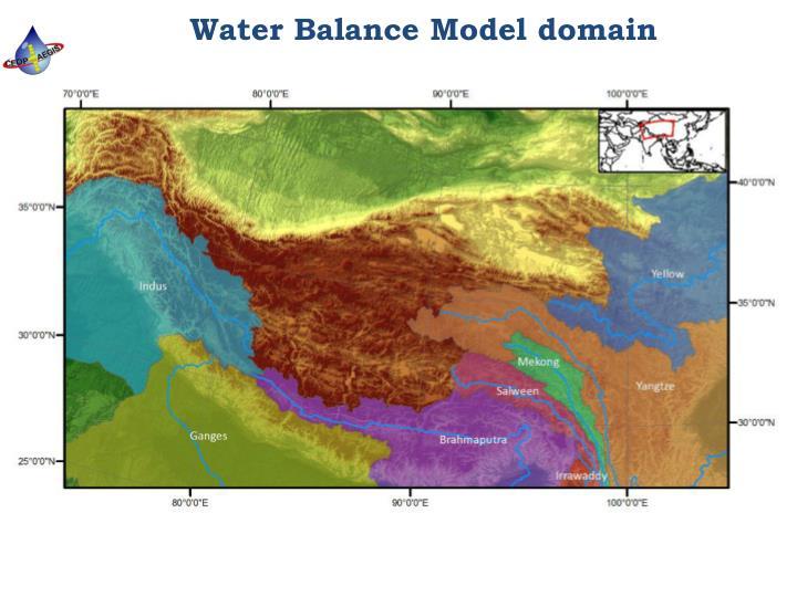 Water balance model domain