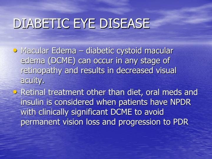 DIABETIC EYE DISEASE