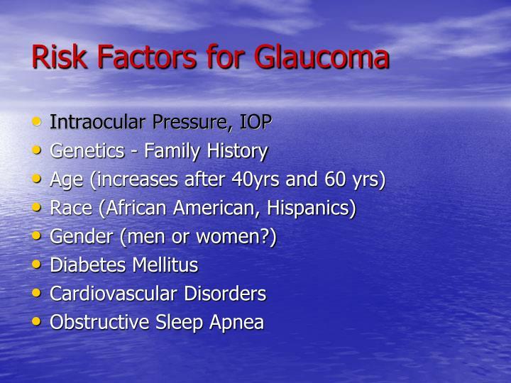 Risk Factors for Glaucoma