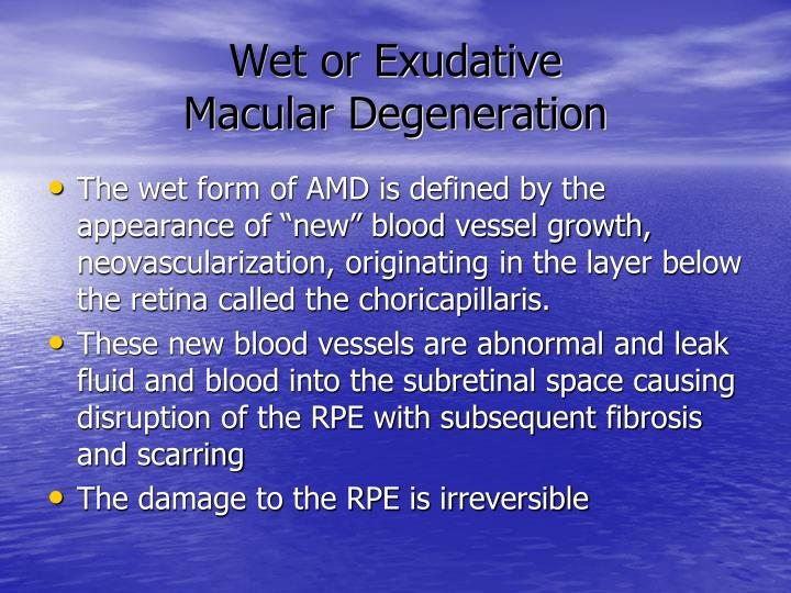 Wet or Exudative