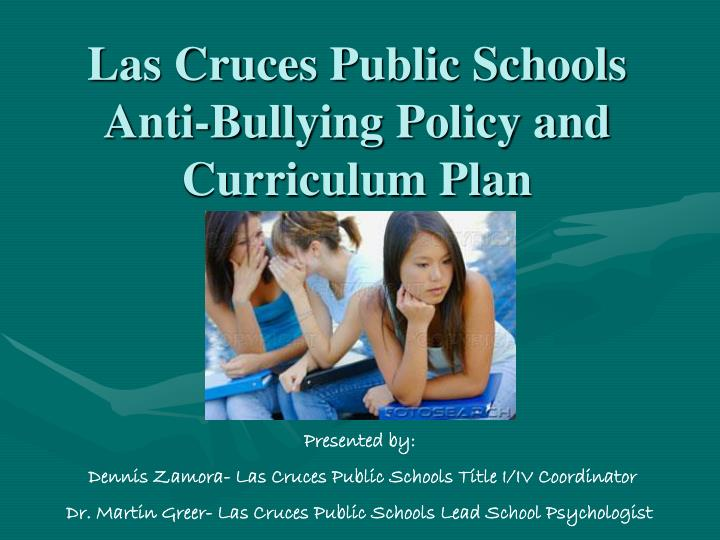 """anti bullying policy Prohibition of harassment, intimidation and bullying the board is committed to a safe and civil educational environment for all students, employees, parents/legal guardians, volunteers and community members that is free from harassment, intimidation or bullying """"harassment, intimidation or bullying"""" means any intentionally written message."""
