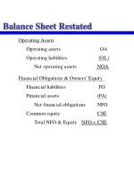 balance sheet restated