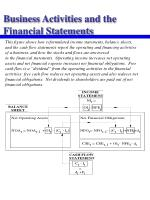 business activities and the financial statements